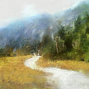 Foggy Morning On Mount Mansfield - 2014 Poster