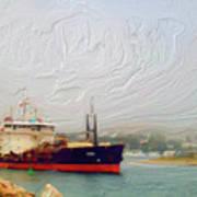 Foggy Morro Bay Poster