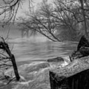Foggy River Poster