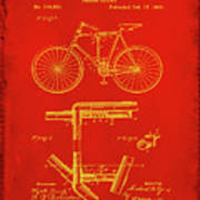 Folding Bycycle Patent Drawing 1c Poster
