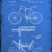 Folding Bycycle Patent Drawing 1d Poster