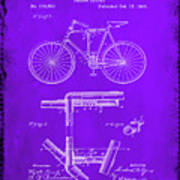Folding Bycycle Patent Drawing 1e Poster