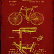 Folding Bycycle Patent Drawing 1f Poster