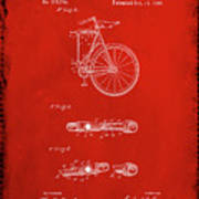 Folding Bycycle Patent Drawing 2b Poster