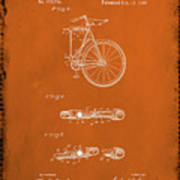 Folding Bycycle Patent Drawing 2e Poster