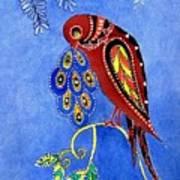 Folk Art Bird Poster