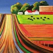 Folk Art Farm Poster