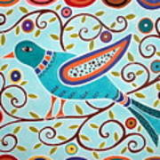 Folk Bird Poster