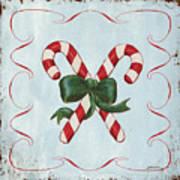 Folk Candy Cane Poster