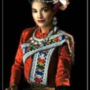 Folk Dancer Of The North East Poster