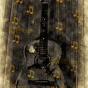Folk Guitar Poster