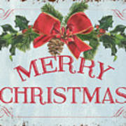 Folk Merry Christmas Poster