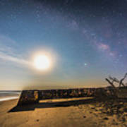 Folly Beach Milky Way Poster