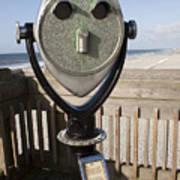 Folly Beach Pay Binoculars Poster