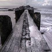 Folly Beach Pilings Charleston South Carolina Poster