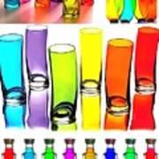 Food Coloring Ensemble-rainbow Theme Poster