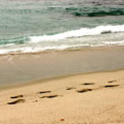 Foot Prints In The Sand.jpg Poster