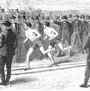 Foot Race, 1868 Poster
