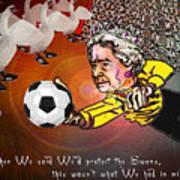 Football Derby Rams Against Swansea Swans Poster