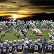 Football Field-notre Dame-navy Poster