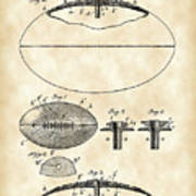 Football Patent 1902 - Vintage Poster