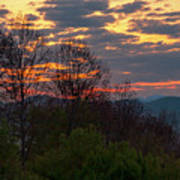 Foothills Parkway Dawn Poster
