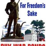 For Freedom's Sake Buy War Bonds Poster