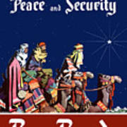 For Peace And Security - Buy Bonds Poster