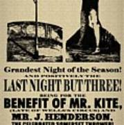 For The Benefit Of Mr Kite Poster by Bill Cannon
