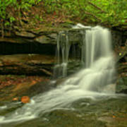 Forbes State Forest Cole Run Cave Falls Poster