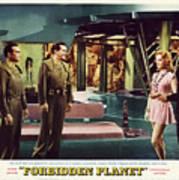 Forbidden Planet In Cinemascope Retro Classic Movie Poster Indoors Poster