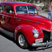 Ford 40 In Red Poster