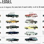 Ford Auto/edsel Ad, 1957 Poster