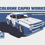 Ford Cologne Capri Works Poster