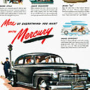 Ford Mercury Ad, 1946 Poster