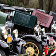 Ford Model A Line Up Poster