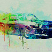 Ford Mustang Watercolor 2 Poster