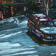 Ford Range In The Snow Poster