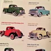 Ford Truck Stamps Poster