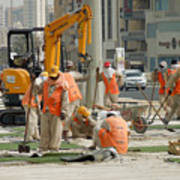 Foreign Workers - Manama Bahrain Poster