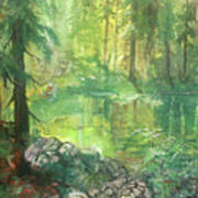 Forest Pond Poster