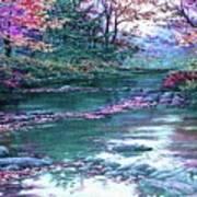 Forest River Scene. L B Poster