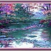 Forest River Scene. L B With Alt. Decorative Ornate Printed Frame. No. 1 Poster