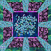 Forget Me Nots Fabric By Clothworks Poster