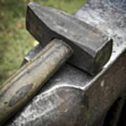 Forging Hammer On The Anvil Poster