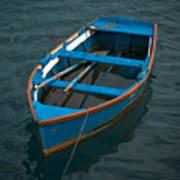 Forgotten Little Blue Boat Poster