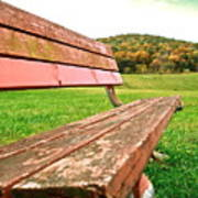 Forgotten Park Bench Poster