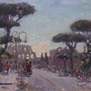Fori Romani - Street To Colosseo Poster