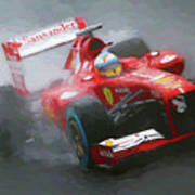 Formula One Burning The Track Poster