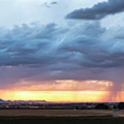 Fort Collins Colorado Sunset Lightning Storm Poster